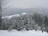 Pohled z chaty v zimním období